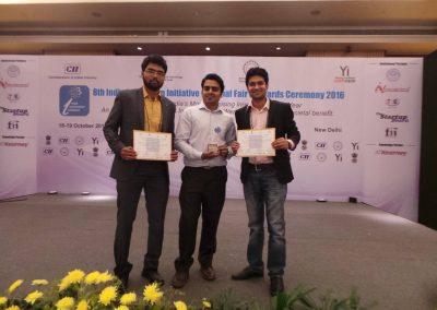 Team Eye-D with Best Innovator Award at 8th India Innovation Initiative National Fair'16