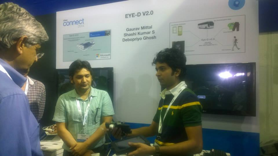 Gaurav giving Eye-D demo at Citrix Connect 2014