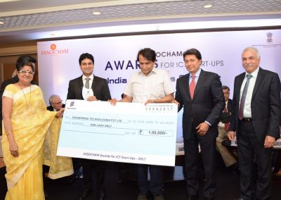 Eye-D being awarded with the prestigious Assocham awards for Startups