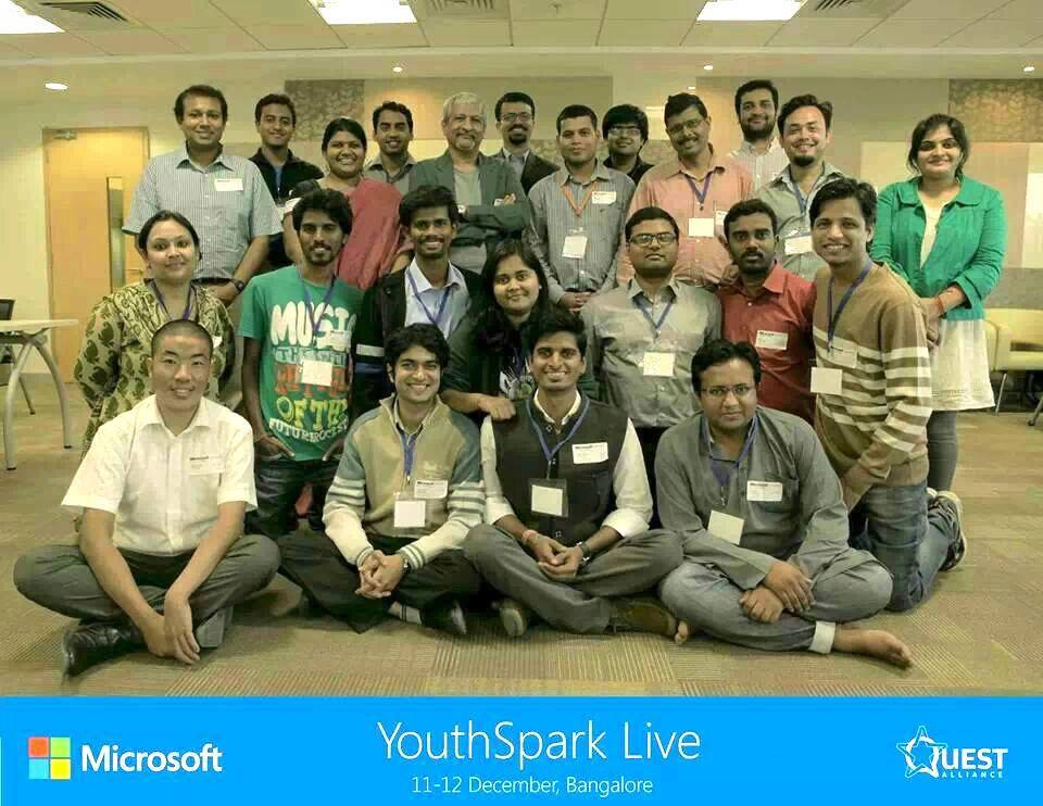 Gaurav Along with other finalists of Micosoft YouthSparks