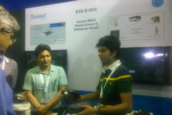 Gaurav giving a demo of Eye-D