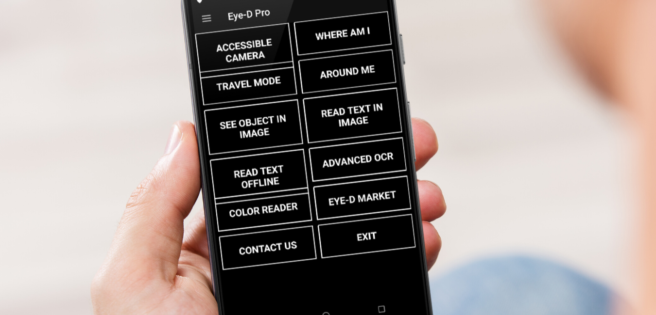 Man using Eye-D app